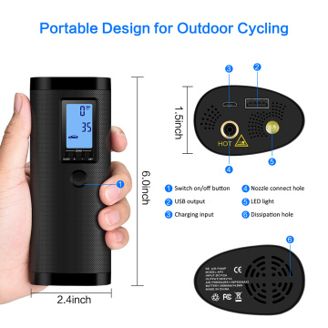 Portable Design Tyre Pump Inflator for Electromobile