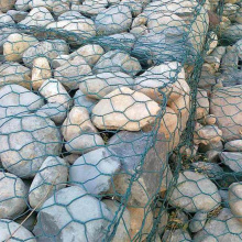 Galvanized Woven Hexagonal Iron Basket Gabion Fence
