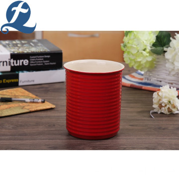 China manufacture no handle thread appearance ceramic cup