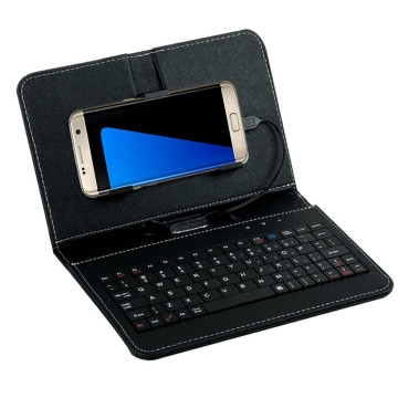 Best Price General Wired Keyboard Flip Holster Case For Andriod Mobile Phone 4.2''-6.8''**