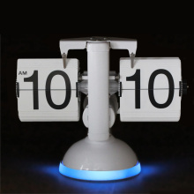 European Flip Desk Clock with LED Light