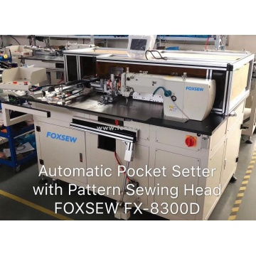 Automatic Jeans Pocket Setting Machine
