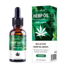 30ml 100% Organic Hemp CBD Oil 2000mg Bio-active Hemp Seeds Oil Extract Drop for Pain Relief Reduce Anxiety Better Sleep Essence