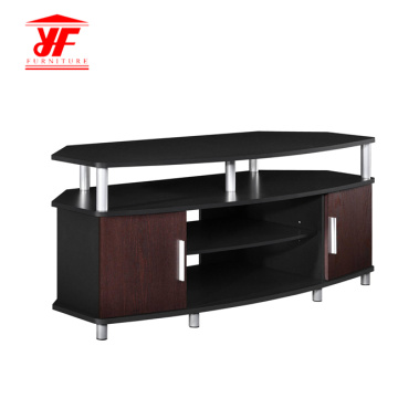 Dark Wood Tabletop Small TV Stand