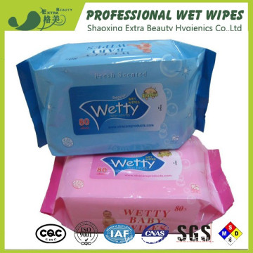 OEM Organic Tender Baby Brands Nonwoven Wet Wipes