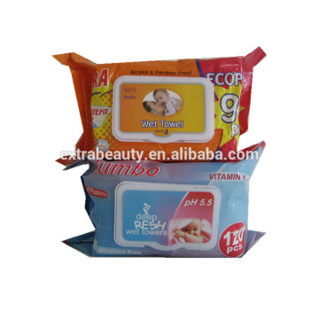 Individually Wrapped Natural Biodegradable Food  Wet Towel