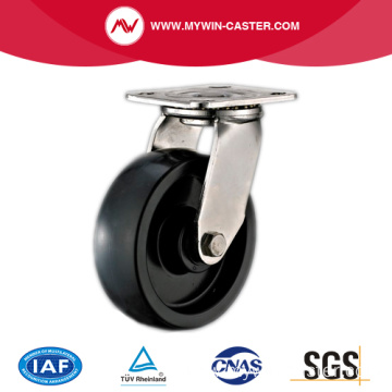 Plate Swivel Stainless Steel PU Caster