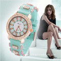 fashion colorful diamond bracelet watch