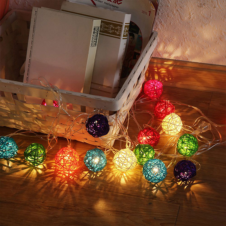 festive supplies rattan ball wedding string light