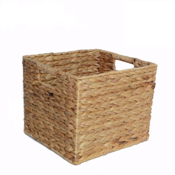 Practical Rectangular Water Hyacinth Storage Basket