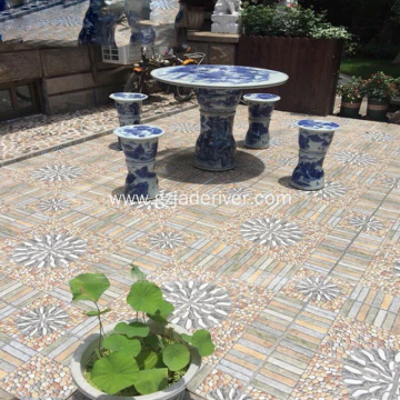 Bluestone Courtyard Floor Tiles Pebbles Garden Terrace Tiles