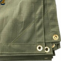 Gridding olive green breathable cotton canvas tarps