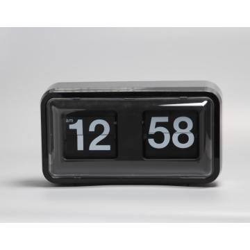 Black Plastic Box Flip Clock on Table