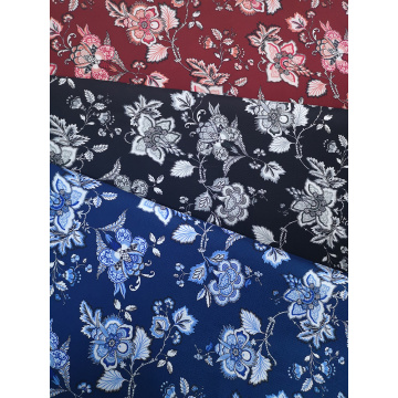 Ethnic Flower Polyester Bubble Crepe Printing Fabirc