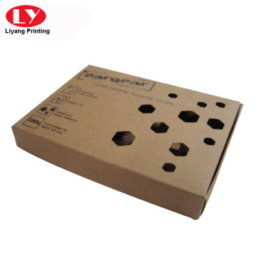 Foldable brown paper shipping box