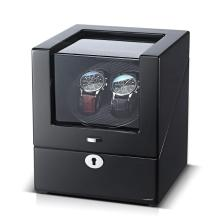 Black Interior  Watch Winder For two watches
