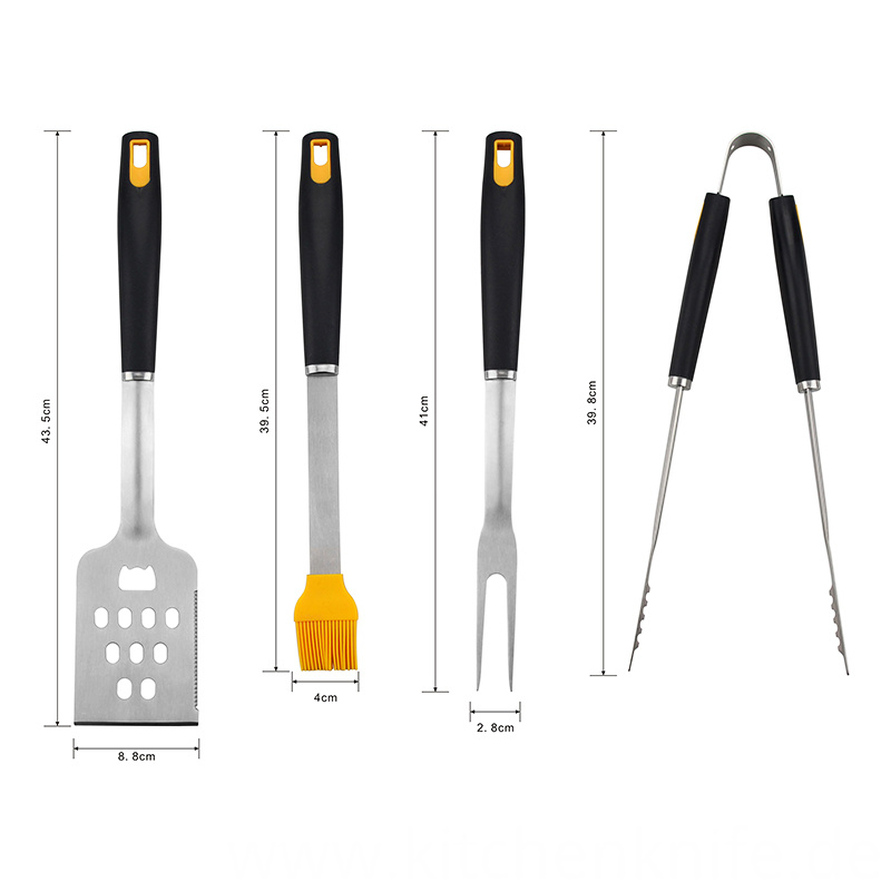 Pp Handle Grill Tools Set