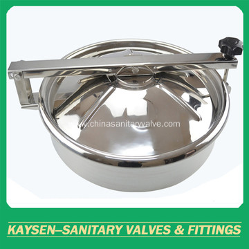 Sanitary round non pressure manways with bulge