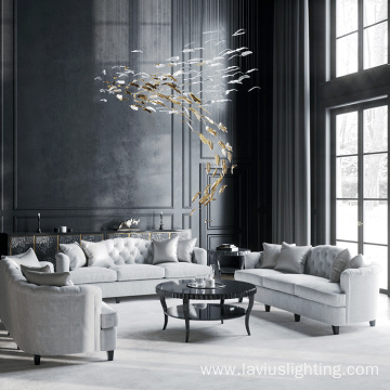 Indoor art fashion hotel club decoration glass chandelier