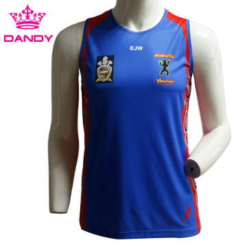 Customized mens running singlets