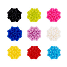 500pcs Handmade Porcelain Flower Cabochons China Clay Beads DIY Ring Pendants Jewelry Making Findings 23~25x20.5~21x10~11mm