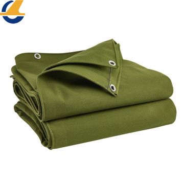 Waterproof Green Poly Cotton Tarpaulin