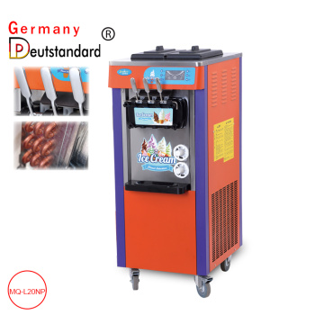 Commercial soft ice cream maker machine