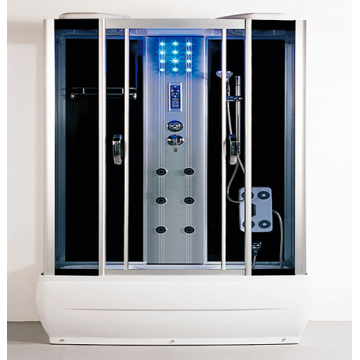 Rectangular Steam Shower Room with Control Panel