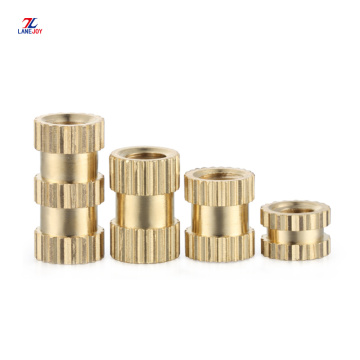 OEM brass copper knurled thread insert nut