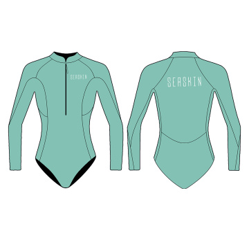 Seaskin Front Zip Long Sleeve Bikini Cut Wetsuit