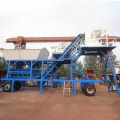 small mobile concrete mixing plant YHZS25