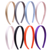 1.5CM Solid Color Plain Haribands Satin Headband Women Hair Accessories Girls Simple Headbands Head Hoop Tiaras 1PCS