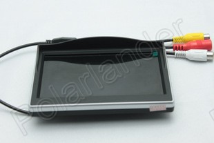 HD Car digital color TFT LCD Monitor 5 inch Car monitor display 2ch Video input for Car Rearview Camera reverse priority