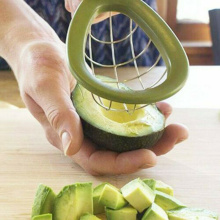 Avocado Dice Cube Stainless steel Slicer Fruits Melon Cutter Cuber Kitchen Appliances Plastic Handle Gadgets Accessories Tools