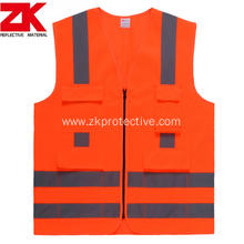 High visibility multi-functional pockets reflective garment