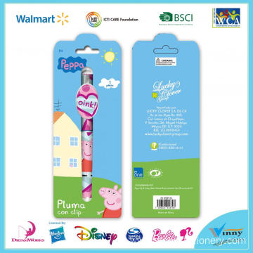 Pegga Pig 1 Piece Ballpen with Clip