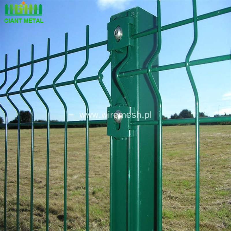 PVC Powder Coated 3D Welded Fence