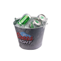 ice beer bucket with changing color logo for bar
