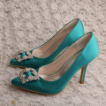 Olive Green Wedding High Heels for Brides