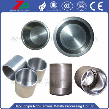 Pure tungsten crucibles used in vacuum industry