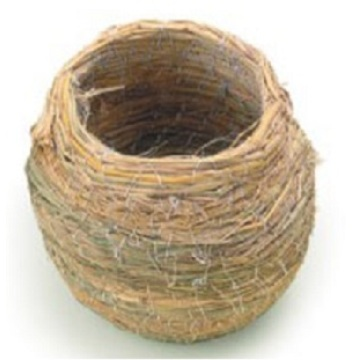 Percell Pot Shape Large Straw Bird Nest