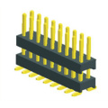 2.54mm MaleHeader Dual Row Double Plastic SMT