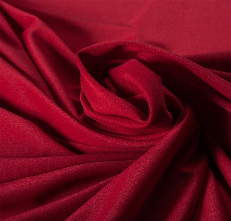 Stretch Plain Woven Material 100 Polyester Satin