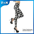Polyester spandex leggings printed leggings for women