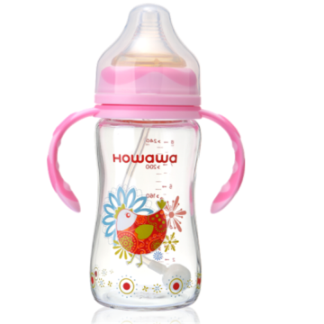 Infant Feeding Glass Bottle With Handle