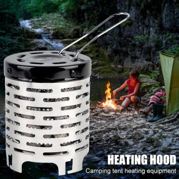 Portable Mini Camping Heater Cap Outdoor Gas Stove Warmer Heater Stainless Steel armer Cover Equipment Picnic Tools