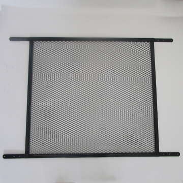 Powder coated decorative screen door grille