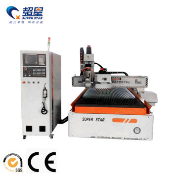 CNC Woodworking Router with automatic tool changer