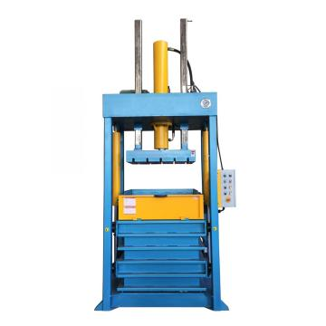 Vertical clothes textile baling compress