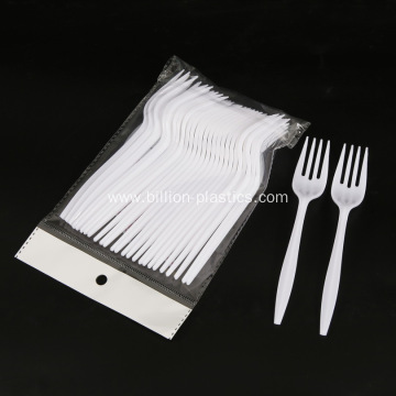 White Cutlery For Take Out Food